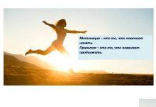 Мотивация- пожалуй, главное на пути к успеху!